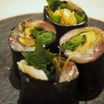 鮨 仙酢 - 青魚の磯辺巻き