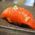 鮨 仙酢 - 本マグロ赤身漬け 地辛子
