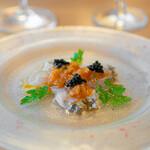 Baruerisutorantetaburie - イタリア産【キャビア】と【産直鮮魚】のカルパッチョ