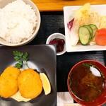 いち寅 - カニクリームコロッケ定食