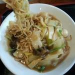 菜花 - 太麺お焦げのある香ばしい麺★