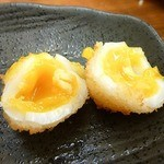 串カツさくら - 半熟うずら卵