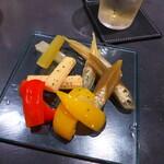 BAR&DINING KAZEMACHI - ピクルス。お酒にも合うし、ちょっとした箸休めに