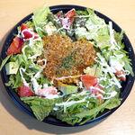 BAR&DINING KAZEMACHI - 燻製チーズタコライス(UberEATS ¥1450)。フタを開ければ燻製の香り!