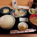 安庵 - ネギトロ定食