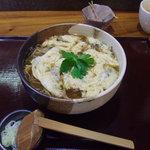 信州安曇野手打蕎麦 たか瀬 - 舞茸入り玉子とじそば