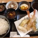 天ぷら やじま。 - 天ぷら定食 1100円