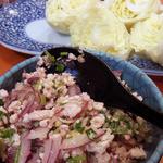 ささの葉 - ラームプー(タイ料理の豚ひき肉サラダ)