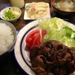 鉄兵 - 牛バター焼き定食(850円)