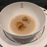 155495598 - 白インゲン豆のズッパ トリッパとセロリ