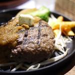 にこにこハンバーグ ひまわり - 料理写真:ひまわりハンバーグ Mサイズ(250g)