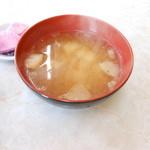 ドライブイン雪国 - ジャガイモと麩のあっさり味噌汁