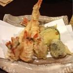 小鮎 - 足赤えびの天ぷら