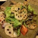 小鮎 - 蓮根とたこのサラダ