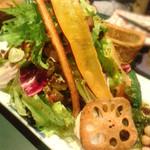 海峡 - 秋の野菜とお豆が美味しいサラダ!