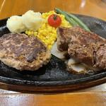 ボンボネーラ - 【2021.6.25】ハンバーグ、ステーキコンボM 3530円