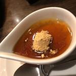 焼肉 芝浦 - デザート(黒蜜きな粉)