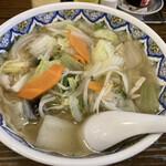 中国ラーメン揚州商人 - 野菜ラーメン、中太麺800円