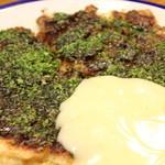 味美 - 料理写真:店主オススメ【味美デラックス】!たっぷりのったマヨネーズはお好みで!