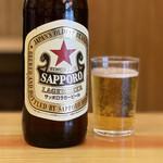 いづみや - サッポロラガー赤星 大瓶 550円