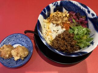 担担麺専門店 DAN DAN NOODLES. ENISHI - 坦々麺(中辛)&唐揚げ