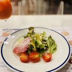 ピッツェリア・アッソ・ダ・ヤマグチ - セットのサラダ