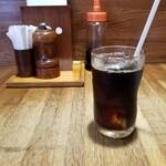 ステーキハウスボン - 食後にアイスコーヒー。