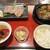 タン次郎 - 料理写真:牛タン焼き&煮込み定食 配膳された膳(位置がちょっと・・・)