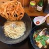 Meshiyasanji - 料理写真:淡麗出汁昆布水つけ麺 味玉&ごぼう天トッピング 1,000円