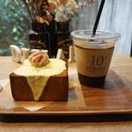 155579996 - チーズトーストとアイスコーヒー