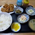 なとり食堂  - 料理写真:【H24.10.26】から揚げ定食700円。
