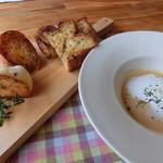 15559286 - ランチのスープとパン