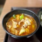 武蔵野うどん 藤原 - 旨辛肉汁