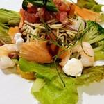 Restaurant Raphael - スモークサーモンと野菜がサラダのよう