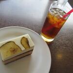 155594305 - 【ケーキ1個のセット(ケーキ1個・ドリンク1杯)980円】