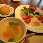 カフェ・グリネス - 料理写真:【朝食(洋食)】