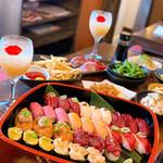 裏天満ちょうちん通り 肉寿司 -