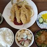 一力 - アジフライ定食 950円