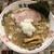 町田 龍聖軒 - 醤油ラーメン並(750円)+背脂煮干し変更(100円)