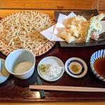 志趣饗粋 蕎麦 鷲ひら - 江戸前穴子の天ぷらせいろ