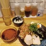 つけ麺本舗 辛部 - のりかつおつけ麺+ごはんセット