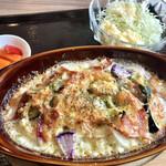 豚肉料理店 シロッコ - 古代豚と深谷野菜のドリア 990円