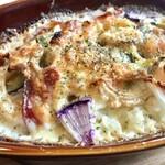 豚肉料理店 シロッコ - 古代豚のベーコンと、地元野菜がたっぷり! 茄子、ゴーヤ、玉葱、オクラ、ジャガイモなど。