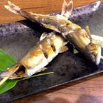 丹一 - 鮎の塩焼き 一人前825円 ちょっとスリムな鮎ですね。 身入りは良く、味はしっかり美味しい鮎でした。