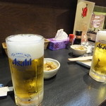 馬ん馬んいくどん - 生ビールで乾杯!