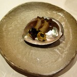 鉄板焼 誉 - 鮑のバター焼き