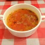 キッチン GINZA-TEI - トマトのガーリックスープ