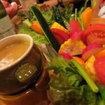 キッチンスズヤ - 【再訪2】野菜が美味しいっ!バーニャカウダ