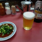 155683964 - キンキンのルービと味噌ダレ