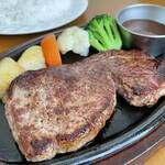 ブッチャーランド - 料理写真:ステーキランチ 1300円 今度来る時には上州牛ハンバーグ食べる